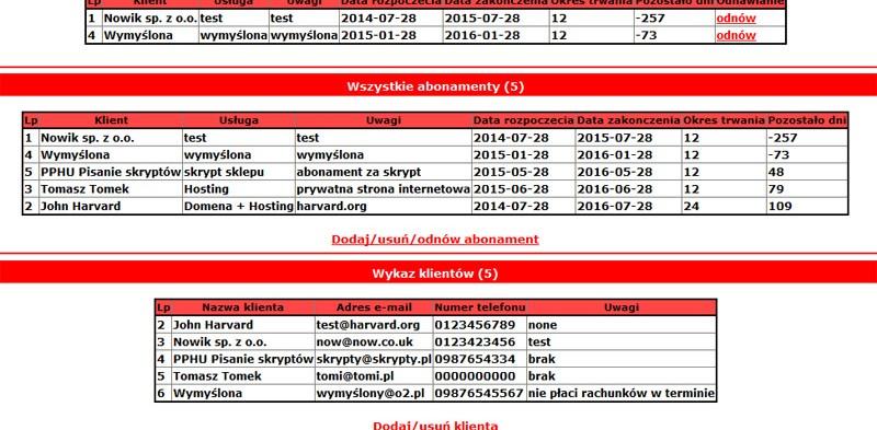Program online do obsługi abonamentów