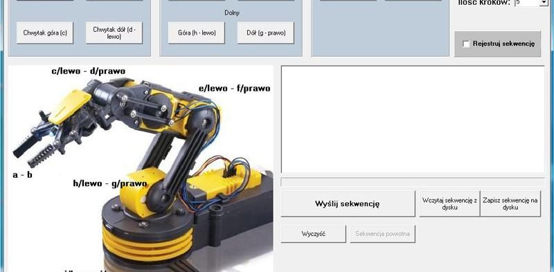 Program do sterowania robotem edukacyjnym Velleman
